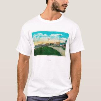 T-shirt Vue de ville de Fairbanks, AlaskaFairbanks, AK