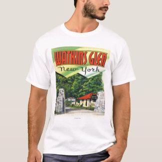 T-shirt Vue d'entrée principale au parc d'état de gorge de