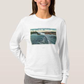 T-shirt Vue des chutes du Niagara du point de perspective