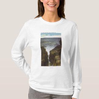 T-shirt Vue des falaises de tête chauve, la gorge
