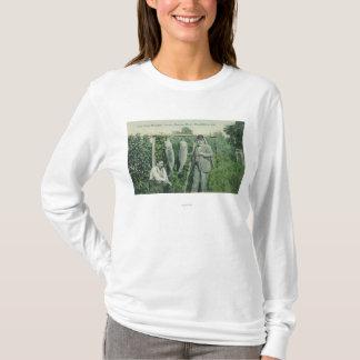 T-shirt Vue des pêcheurs avec le crochet près de Fitch Mt.