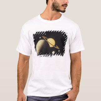 T-shirt vue des planètes dans le système solaire