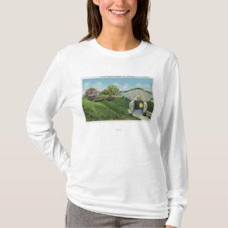 T-shirt Vue des quarts d'adjudant dans le vieux château