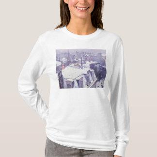 T-shirt Vue des toits ou des toits sous la neige, 1878