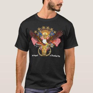 T-shirt Vue d'hommes de F handicapée par vétéran et de B