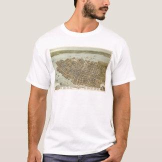T-shirt Vue d'oeil d'oiseau Charleston, la Caroline du Sud