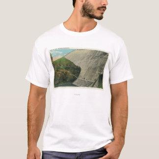 T-shirt Vue du barrage de réservoir d'Ashokan