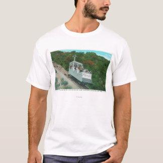 T-shirt Vue du funiculaire de pente de Mt. Lowe