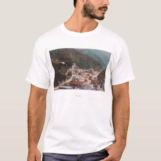T-shirt Vue du mien de Hecla regardant en bas du canyon