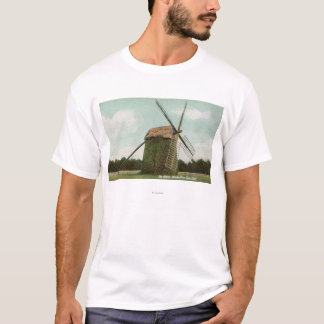 T-shirt Vue du moulin à vent le plus ancien sur Cape Cod