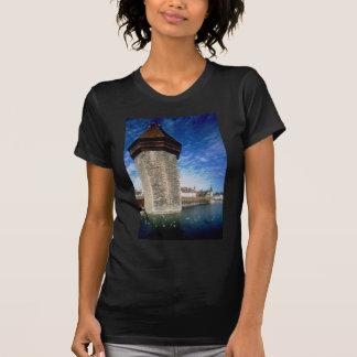 T-shirt Vue du pont de chapelle en luzerne, Suisse