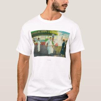 T-shirt Vue du quai du pêcheur, obtention de crabes