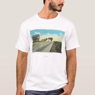 T-shirt Vue du sud de champ de bataille de Saratoga