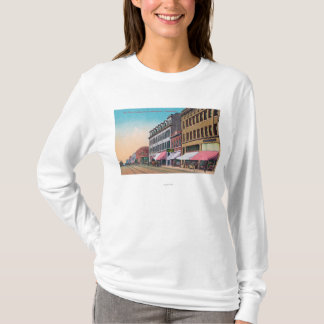 T-shirt Vue du sud des élans StreetBellingham, WA