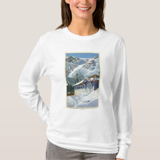 T-shirt Vue d'un abri de ski de Service Forestier des USA