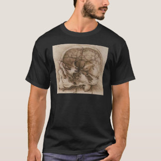 T-shirt Vue d'un crâne