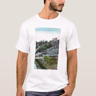 T-shirt Vue d'un diamant MineOroville, CA