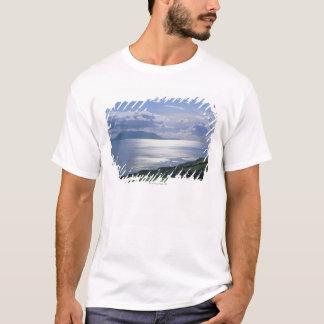 T-shirt vue d'une pente herbeuse par la mer