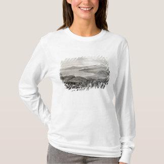 T-shirt Vue éloignée du volcan de l'Aconcagua