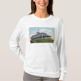 T-shirt Vue extérieure de l'hôtel de falaise de tête