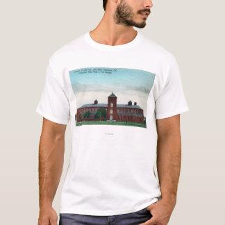 T-shirt Vue extérieure des moulins de soie de Currier Co