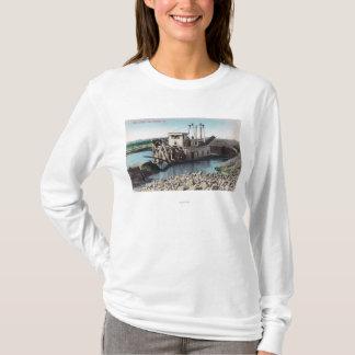 T-shirt Vue extérieure d'un or DredgerOroville, CA