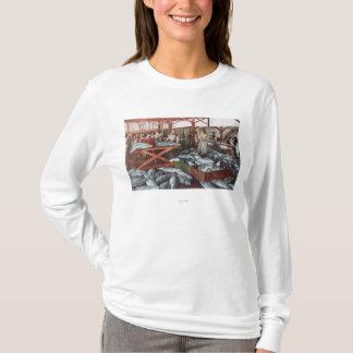 T-shirt Vue intérieure d'une fabrique de conserves