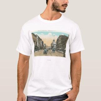 T-shirt Vue occidentale de rue de cour