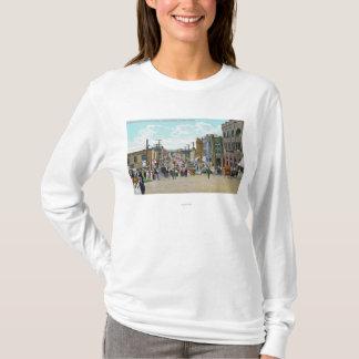 T-shirt Vue occidentale de rue de houx
