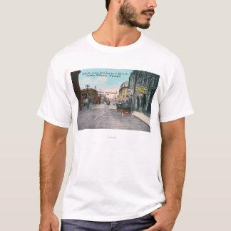 T-shirt Vue occidentale de rue de houx de bâtiment de YMCA