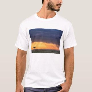 T-shirt Vue panoramique d'arbre de vautour et d'acacia