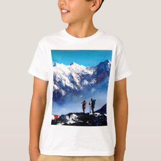 T-shirt Vue panoramique de montagne maximale d'Ama Dablam