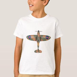 T-shirt vue supérieure de spitfire