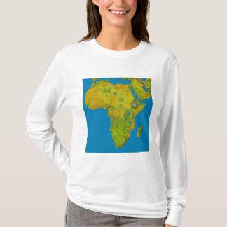 T-shirt Vue topographique de l'Afrique