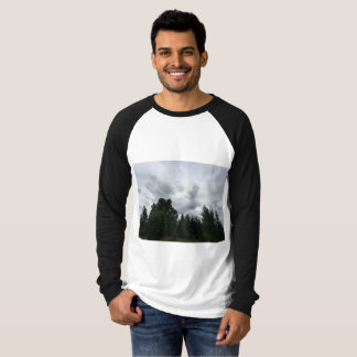 T-shirt Vues extérieures sereines raglanes