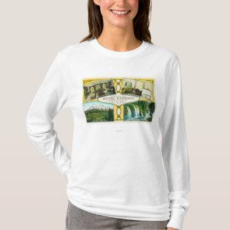 T-shirt Vues intérieures de Redding d'hôtel avec les sites