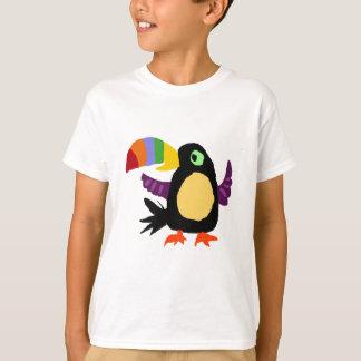 T-shirt VW art drôle de primitif d'oiseau de toucan