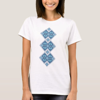 T-shirt Vyshyvanka ukrainien de bleu de broderie