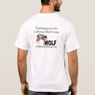 T-shirt W.O.L.F. Chemise du logo des hommes