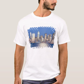 T-shirt WA, horizon de Seattle, Seattle et Elliott
