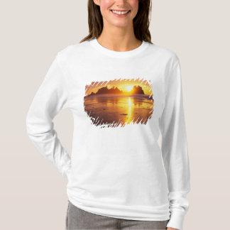 T-shirt WA, NP olympique, plage de Shi Shi au coucher du