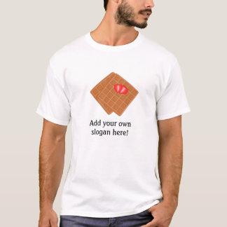 T-shirt Waffles le graphique : Slogan personnalisable