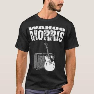 T-shirt Wahoo Morris T, blanc sur le noir : Guitare et