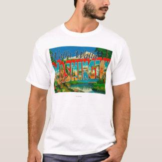 T-shirt Walla Walla, Washington - grandes scènes de lettre