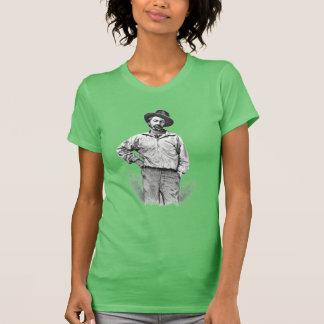 """T-shirt Walt Whitman """"je crois une feuille citation"""
