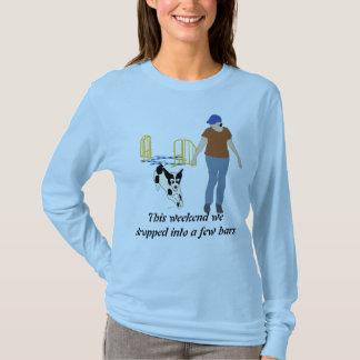 T-shirt Weekend la chute dans des barres