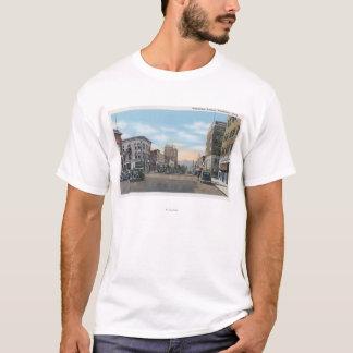 T-shirt Wenatchee, scène d'avenue de WashingtonWenatchee #