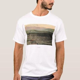 T-shirt Wenatchee, vue de WashingtonAerial d'un verger