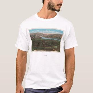 T-shirt Wenatchee, WAView de vallée et fleuve Columbia