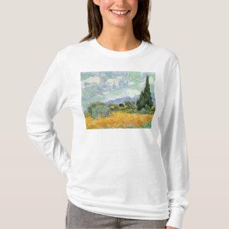 T-shirt Wheatfield de Vincent van Gogh | avec des cyprès,